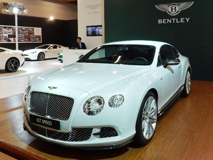 2014 臺北新車大展展出的 Bentley Continental GT Speed